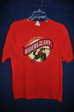 Vintage '80s Riders in the Sky The Great Trail Drive red t shirt M USA