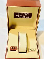 Vintage  Men's Seiko Quartz watch Box Bage Velvet FROM THE LATE 1970s-80s