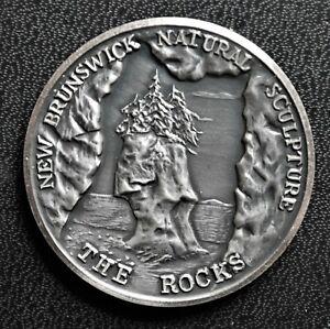 New Brunswick, The Rocks - Reversing Falls,  Fine Silver Medal, 38mm