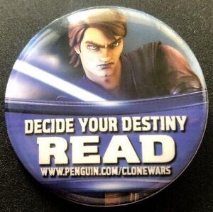Anakin Skywalker Star Wars The Clone Wars 2011 Comic-Con SDCC promo button pin