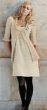 Anthropologie rare Belle Ballroom metallic lurex Dress Left Of Center NWT
