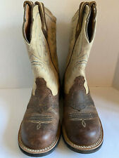 Ariat 6.5 Women's Cowboy Boots Brown Leather Suede Turquoise Style 10005904