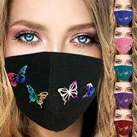 Fashion Women Butterfly Print Face Mask Outdoor Sport Cover Casual Bandana