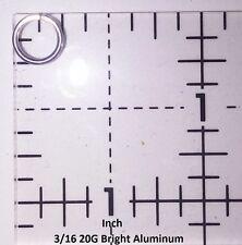BLACK Anodized Aluminum JUMP RINGS 500 3/16 20g SAW CUT Chainmail chain mail