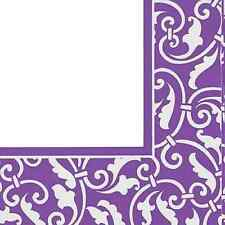 Ornamental Scroll New Purple Wedding Floral Garden Party Paper Luncheon Napkins