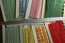 PICOT Edge LACE Braid 8mm Wide 3, 4, 5 & 10 Metre Lengths - 7 Colour Choice B5