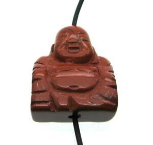 Buddha von oben gebohrt Jaspis rot 2 cm