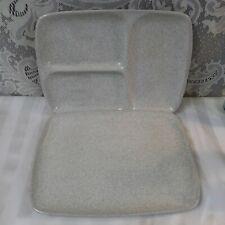 Vintage Glidden Stoneware Pottery Trays Gray Speckled