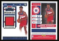 2019-20 Contenders Admiral Schofield RTS-ASC Rookie Ticket Swatches RC GU Jersey