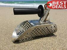 Beach Sand Scoop + Extra Handle Metal Detecting Tool Stainless Steel Diving