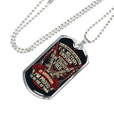 Keeping Our Country Free, Us Patriot Proud Us Veteran Military Dog Tag Necklace