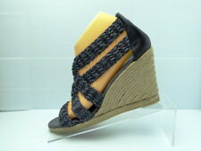 JEAN-MICHEL CAZABAT GRAY Synthetic Strappy Wedge Heel Sandals Size 39