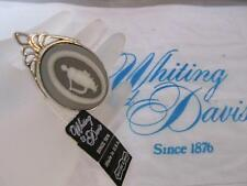 Estate Vintage Whiting & Davis Classic Cameo Brooch Pin  New Old Stock