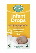Colief Infant Drops (15ml) - Lactase Enzyme Drops for Baby Calming Colic Relief