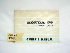HONDA 175 MODEL CD175 OWNER'S MANUAL (#140)