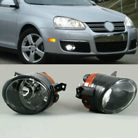 For VW Golf GTI Jetta MK5 Tiguan Pair Front Bumper Convex Lens Fog Light Lamps