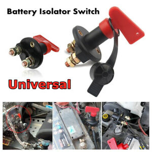Universal 12V Battery Isolator Switch Cut Off Kill Switch Car Boat Van Truck New