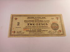 Philippines Emergency PNB Bacolod Branch 2 Pesos Guerilla Note - # 56272