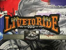 biker back patch LIVE-TO-RIDE-EMBROIDERD-BACK-PATCH triumph bsa rocker harley