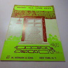 """""""Irish"""" All-Time Hits Song Album Piano Sheet Music vintage songbook"""