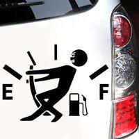 Car Funny Vinyl Sticker High Gas Consumption Decal Fuel Gage Empty Black