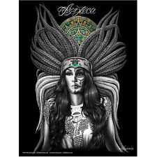 Azteca Poster By David Gonzales Art Aztec Princess Girl Day of the Dead