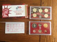 2005-S UNITED STATES MINT SILVER PROOF SET W/ BOX & COA 11 COINS... USA