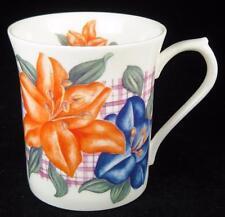 Queen's Orange/Blue/Purple Lily Flowers Fine Bone China Mug