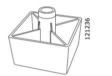 1x Ikea Square Kivik Sofa Leg Plastic Black Part # 121236