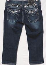 Miss Me Easy Capri Studded Denim Capri Jeans Womens Size 27 Bling