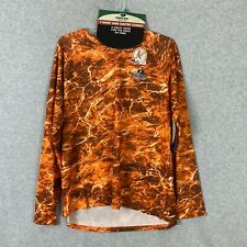 Mossy Oak Performance Fishing T-Shirt and Gaiter Combo Orange Camo Size 3XL