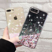 2018 Luxury Glitter Hearts Liquid Back Phone Case Cover for iPhone Xs Max Xr 8 7