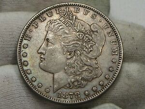 VF+ 1878 7/8 TF (7 Over 8 Tailfeather) Morgan Dollar.  #46