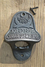 Vintage style cast iron Brew Dog bottle opener Drink craft beer wall mounted