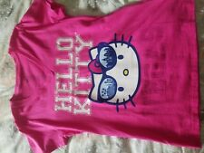 Rare T-Short Hello Kitty Pink Red Cotton