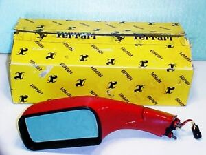 Ferrari 348 Side Rear View Mirror_Left_62189010_in Box_OEM_NEW_RED_348 2.7_TS_TB