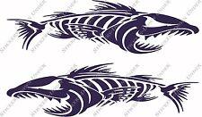 1mt Angry Bone Fish Custom Boat Sticker JetSki Fishing Ally Craft Haines Sea-ray