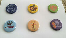Doheny Blues Music Festival Pin Pinback Button (Set 0f 6) Dana Point CA NOS
