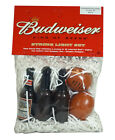 Budweiser Beer Bottle Football String Light Set - 12 foot string with 10 bulbs