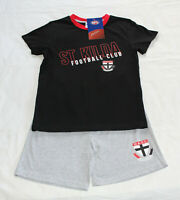 St Kilda Saints AFL AF8489 S19 Boys Youth Printed 2 Piece Pyjama Set Size 14 New