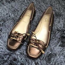 10e6b3f80f3 Christian Louboutin copper leather flat shoes 5.5UK 38.8 5.5