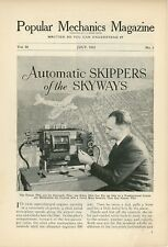 1933 First Use of Automatic Pilot in Airplanes Flying Flight Aviation Autogyro