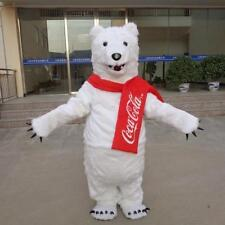 Advertising Polar Bear Mascot Costume Fancy Dress Adults Size Party Xmas Dress