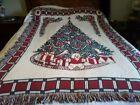 Goodwin Weavers Christmas Cotton Woven Blanket/Throw 48 X 69