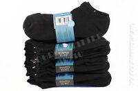 9-11 10-13 Athletic Quality Black No Show Low Ankle Cut Socks Cushion Sports Men