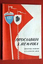 YUGOSLAVIA WEST GERMANY 1955. BELGRADE OFFICIAL PROGRAM FOOTBALL SOCCER
