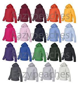 GILDAN YOUTH Size S-XL Heavy Blend Hooded Hoodie Fleece Hoody Sweatshirt 18500B