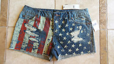 New listing Nwt Abs Allen Schwartz American Flag Denim Shorts Sz 30 $59 Fourth of July 4th