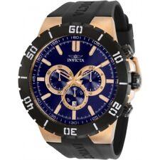 Invicta Pro Diver Men 54mm Stainless Steel Rose Gold Blue Dial Quartz 30729