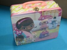 NEW DISNEY 24pc Doc McStuffins Puzzle in Tin Lunch Box